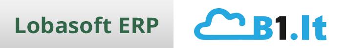 B1.lt tam tikrų funkcijų palyginimas su Lobasoft ERP